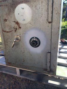 Austral safe that was repaired by Mobilisation Locksmiths PTY LTD by Blake Cole in our home office in Oxford Falls, Northern Beaches