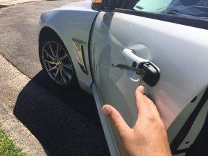 Emergency Locksmith. Lockout of Jaguar XF, opened by Mobilisation Locksmiths PTY LTD with no damage by Blake Cole